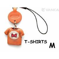 本革携帯ストラップのTシャツシリーズは、肩のラインがふっくらとした立体的なかわいいデザインです。お腹...