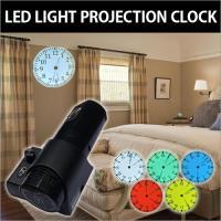 LED電球を使って壁面に投射するプロジェクター時計です。提供されるカラーフィルターを使って壁や天井に...