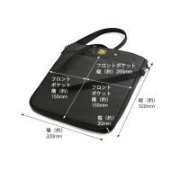 クールな薄襠 フラットショルダー 320 (バリスティックナイロン製) ブラック< バッグ 斜め掛け 鞄 カバン メッセンジャー >