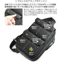 大人が使って格好いい 大人のためのワンショルダー フルオープン& Wフラップポケット (バリスティックナイロン製) ブラック