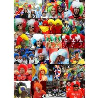 アフロ ウィッグ かつら パーティーグッズ 国旗 タイプ ナショナル フラッグ 応援グッズ ダンス 仮装 コスプレ