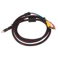 HDMI(映像/音声)とRCAコンポーネント端子(RGB映像)のケーブルです。  ●画質/音質の劣化...