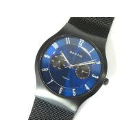 BERING ベーリング 腕時計 チタン デイト 日付 クォーツ 11939-078 青 黒 メンズ...