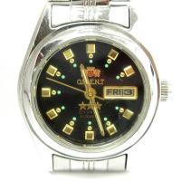 オリエント ORIENT NQ1X-Q1-C スリースター クオーツ 腕時計 3針 自動巻き SS ...