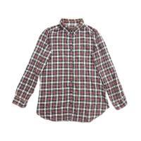 無印良品 良品計画  シャツ 長袖 コットン チェック size L 赤 緑 白 0121 レディー...