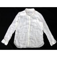 無印良品 良品計画 シャツ ブラウス 長袖 胸ポケット リネン size L 白 0411 レディー...