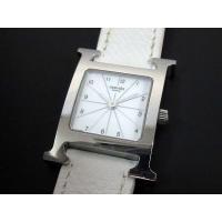 エルメス HERMES Hウォッチ 腕時計 HH1.210 ホワイト 白 SS レザー クォーツ レ...