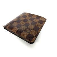 ルイヴィトン LOUIS VUITTON 財布 二つ折り ダミエ ポルトフォイユマルコ N61675...