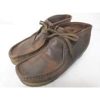 クラークス clarks ワラビーブーツ デザートブーツ レザーシューズ 革靴 ブラウン 濃茶 9M...