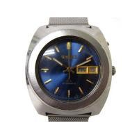 オリエント ORIENT CA クロノエース 27J 27石 自動巻き 腕時計 青文字盤 SS F4...
