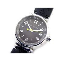 美品 ルイヴィトン LOUIS VUITTON 腕時計 タンブール Q1131 モノグラム ラバー ...