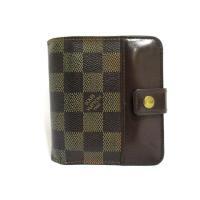 ルイヴィトン LOUIS VUITTON 二つ折り 財布 ダミエ コンパクトジップ N61668 ラ...