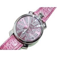 ガガミラノ GaGa MILANO 腕時計 5084.6 46mm 2針 クォーツ スリムレザーベル...