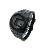 ディーゼル DIESEL 腕時計 DZ-7274 黒 ブラック デジタル表示 ウォッチ シリコンスト...