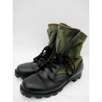 ミリタリー ブーツ ショートブーツ カーキ × ブラック 8W アウトソール29cm 3029830...