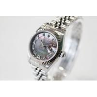 2004年製 ロレックス ROLEX ブラックシェル デイトジャスト 79174 F番 自動巻 腕時...