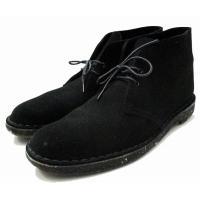 クラークス clarks ヌバック デザート ブーツ 約26cm 黒 ブラック メンズ【中古】【ベク...