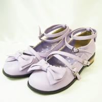 アンジェリックプリティー ANGELIC PRETTY ティーパーティー シューズ靴 パープル紫 L...
