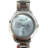 アニエスベー agnes b. 腕時計 クォーツ シルバー V33J-010 ジャンク /MK17 ...