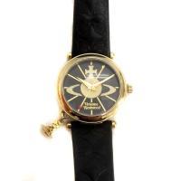 ヴィヴィアンウエストウッド Vivienne Westwood 腕時計 オーブ クォーツ レザー 黒...