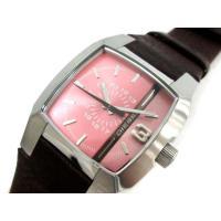 ディーゼル DIESEL 腕時計 クォーツ レザー DZ-5100 ピンク ジャンク /TK メンズ...