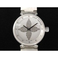ルイヴィトン LOUIS VUITTON 腕時計 タンブール フォーエバー セラミック パヴェ ラグ...