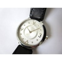 ルイヴィトン LOUIS VUITTON タンブール 腕時計 8Pダイヤ Q12MG モノグラム ク...