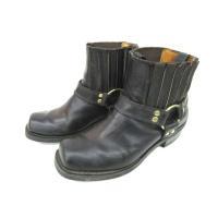 セダークレスト CEDAR CREST リングブーツ サイドゴア レザー 靴 シューズ バイカー 黒...