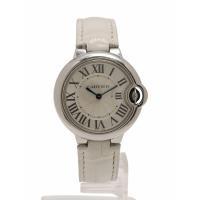カルティエ Cartier 腕時計 バロンブルー ドゥ カルティエ 33mm シルバー 白 クオーツ...