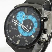 インディペンデント INDEPENDENT ビッグデイト クロノグラフ 腕時計 クォーツ ブラック ...
