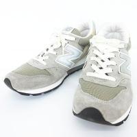 ニューバランス NEW BALANCE スニーカー シューズ USA製 スエード M996 靴 グレ...