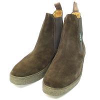 クラークス clarks ブーツ スエード レザー サイドゴア 4946 TS 靴 茶 8 1/2 ...