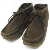 クラークス clarks ワラビー ブーツ スエード レザー 35402 靴 ダークブラウン 26....