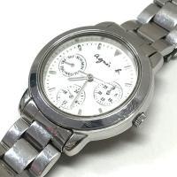 アニエスベー agnes b. V33J-0010 クオーツ 腕時計 ウォッチ クロノグラフ ホワイ...