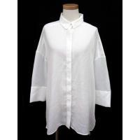 無印良品 良品計画 シャツ ブラウス ビッグシルエット シースルー 長袖 ONE 白 ホワイト ak...