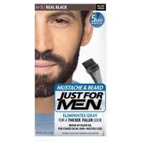 髭の白髪染め 白毛染め JUST FOR MEN ひげ染め リアルブラック