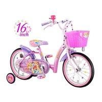 キラキラしたデザインが女の子に大人気!ディズニープリンセスの子供用自転車。 デザインが可愛いだけでな...