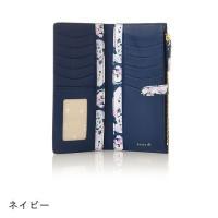 Luria4℃ ルリアヨンドシー 財布 二つ折り 薄型長財布 レディース 花柄 321817330004