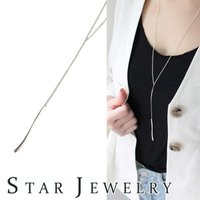 BUYMAup スタージュエリー/ネックレス/STAR JEWELRY/シルバー/Y字/ギフト/レデ...