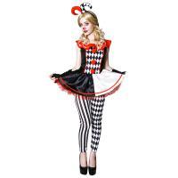 VeroMan レディース ピエロ コスプレ ハロウィン パーティー イベント 衣装 仮装 4点セット
