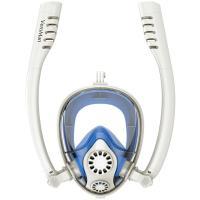 循環システム搭載 シュノーケルマスク フルフェイス型 ダイビングマスク 水中マスク 180°超視野 曇り止め設計 浸水防止 スポーツカメラ取付可能 VeroMan
