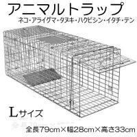 動物捕獲器 Lサイズ W79cm×D28cm×H33cm  女性でも簡単に組み立てが出来、設置する事...