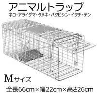 動物捕獲器 Mサイズ W66cm×D22cm×H26cm  女性でも簡単に組み立てが出来、設置する事...