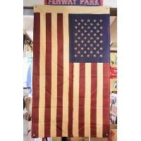 星条旗 フラッグ 旗 ブラウン 約135×80cm レトロ調 コットン製