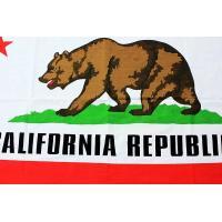 カリフォルニア州 フラッグ 旗 約135×80cm コットン製