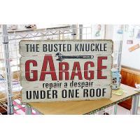 アメリカの修理屋さん ナックルガレージ レトロ調 木製看板