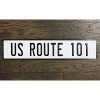 アメリカの国号101号線 ルート101 ストリートサイン エンボス加工 アメリカンブリキ看板