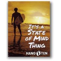 ハンテン 夕暮れの海岸 HANG TEN アメリカンブリキ看板