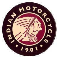 インディアンモーターサイクル ラウンド 円形 アメリカンブリキ看板