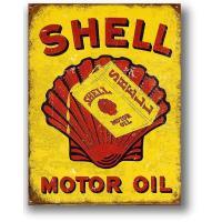 シェル SHELL MOTOR OIL レトロ調 ガソリン系 アメリカンブリキ看板